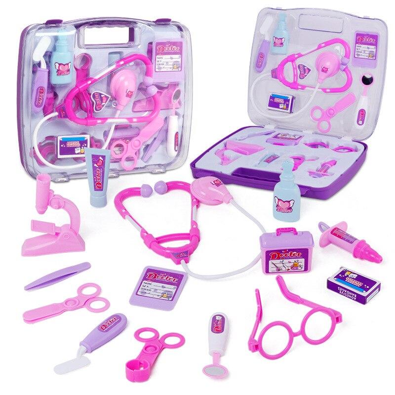 Doctor Toys For Children Pretend Play Simulation Doctor Sets Doctor Bag Kids Gifts Educational Pretend Medicine For Children