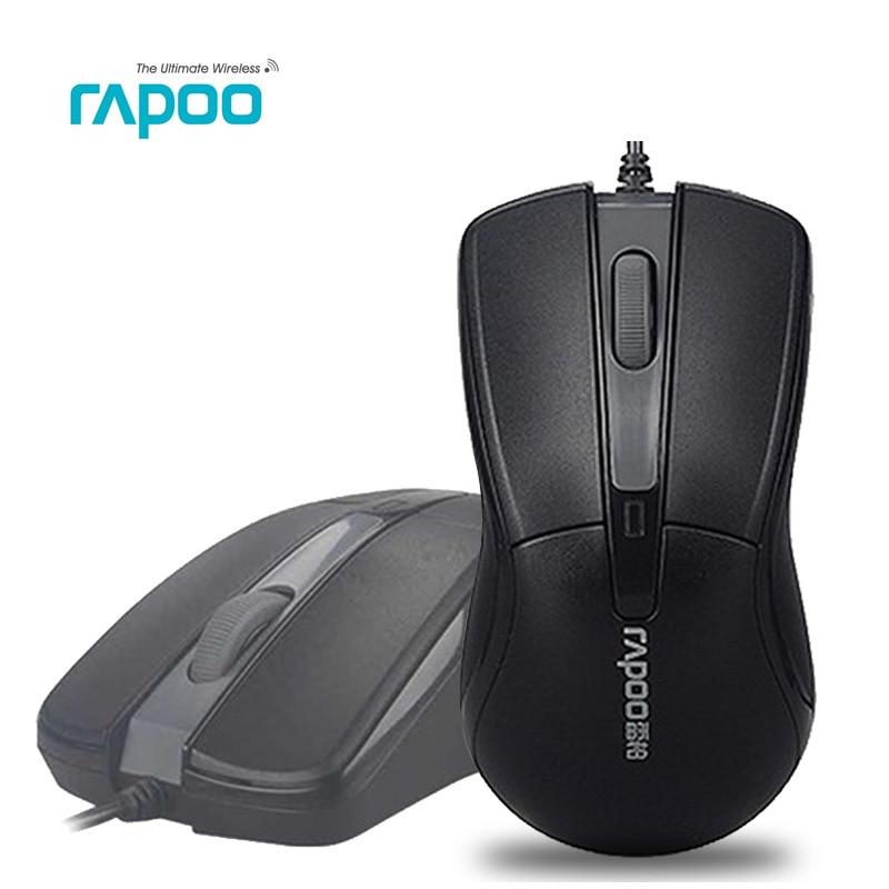 Rapoo N1162 проводной Мышь 1000 Точек на дюйм игровой Мышь оптическая USB Мыши компьютерные компьютер Мышь Мыши компьютерные кабель Мышь Высокое качество для ПК компьютер
