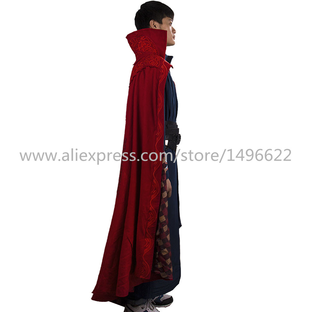 Doctor Strange Costume Kids and Adult Cosplay Steve Red Cloak Costume Robe Halloween Costume Party (6)