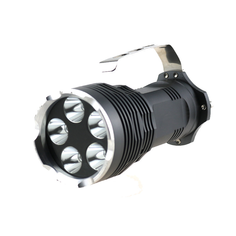 Wholesale Portable 5T6 6000 Lumen Led Flashlight 5xCree XML T6 Led Search Torch Lamps By 18650 Battery 5 Modes Lantern high lumen led flashlight 4 2v cree xml t6 2 18650 battery 5 modes focalize flash lamp 2 18650 batteries battery charger