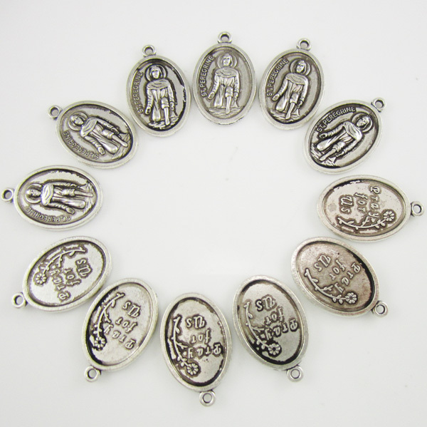100pcs of catholic st peregrine pray for us medal pendant in charms 100pcs of catholic st peregrine pray for us medal pendant in charms from jewelry accessories on aliexpress alibaba group mozeypictures Gallery