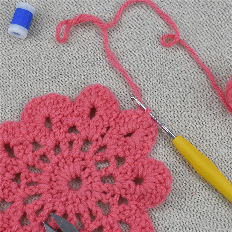 KOKNIT 46pcs Pack Crochet Hooks Set with Case 9 Large Eye Blunt Needles for Knitting Ergonomic Handle Crochet Hooks for Women (4)