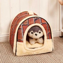 1PC Multifuctional Dog House Nest with Mat Foldable Pet Dog Cat Bed House for Small Medium Dogs Travel Pet Bed Bag Sofa Supplies hot dog house nest with mat foldable pet dog bed cat bed house for small medium dogs travel pet bed bag product