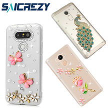 Para LG G7 ThinQ G5 G6 Q6 Q60 X Power 2 Q8 V30 + W30 Pro W10 V20 G3 G3S g4 K8 K10 2017 luxo rhinestone bumper case capa do telefone(China)