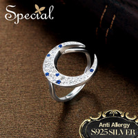 Special Brand Fashion Moon Rings 925 Sterling Silver Jewelry Wedding Rings Engagement Bridal Jewelry Gifts For