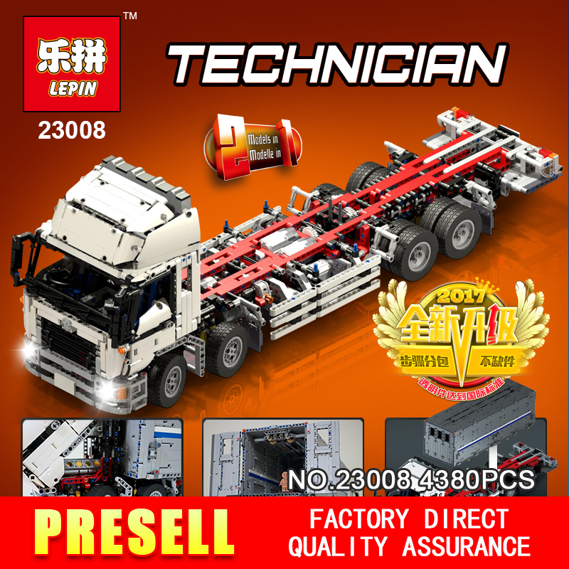 NEW LEPIN 23008 technic series 4380pcs MOC truck Model Building blocks Bricks kits Compatible boy brithday gifts 1389