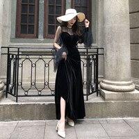Summer Vintage Ball Gown O Neck Lace Splice Velvet Butterfly Sleeve Mid Calf Women Dress Sexy Empire Waist Elegant Party Dresses