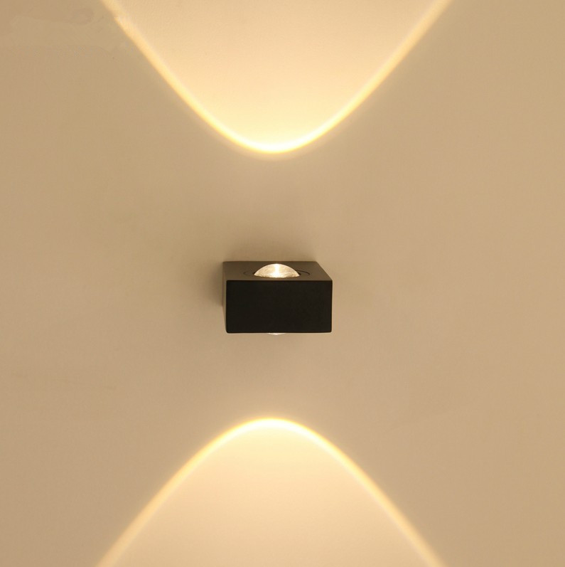 Modern Up And Down Wall Lights : 6W led wall lamp modern simple up-and-down lighting spot lamp waterproof outdoor wall lights 6w ...