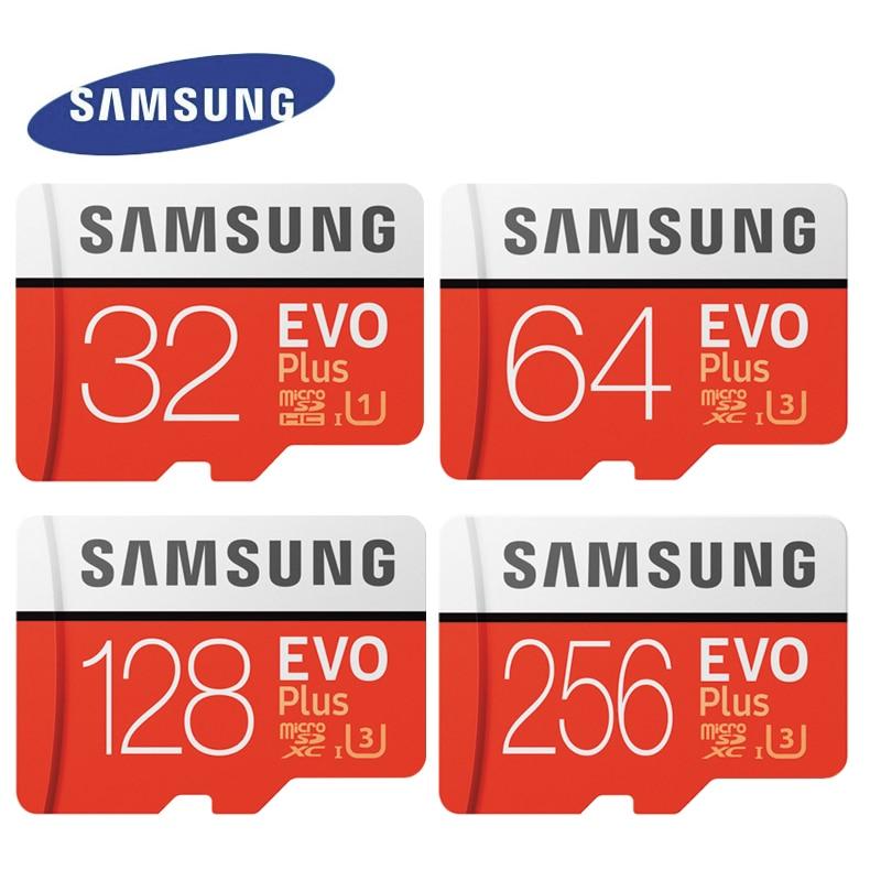 SAMSUNG EVO Plus Memory Card Class10 64GB 128GB 256GB SDXC U3 Micro SD TF Cards 32GB SDHC U1 Trans Flash For Tablet Phones