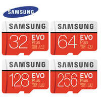 SAMSUNG EVO Plus karty pamięci Class10 64GB 128GB 256GB SDXC U3 Micro SD karty TF 32GB SDHC U1 Trans Flash dla Tablet telefony