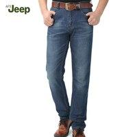 אופנה החדשה באביב סתיו 2017 מותג גברים של ג 'ינס afs jeep צבע טהור כותנה Hombre מזדמן גברים של ג' ינס ארוך נוח 75