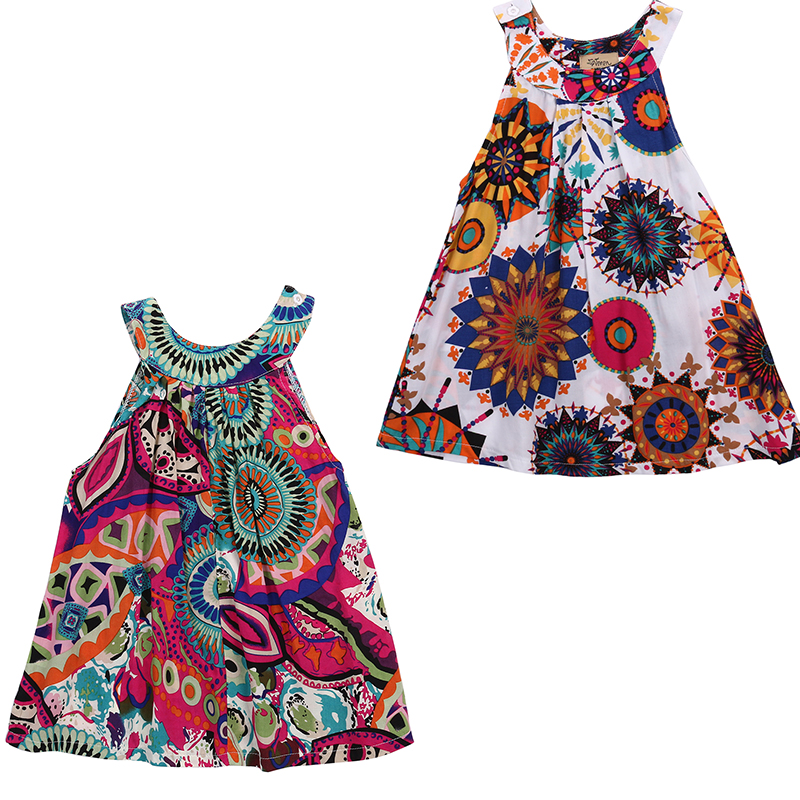 2016 Baby Baby Girls Cute Lovely Sleeveless Dress Toddler Princess Flower Flower Flower Tutu Summer Flower Flower 3-7T