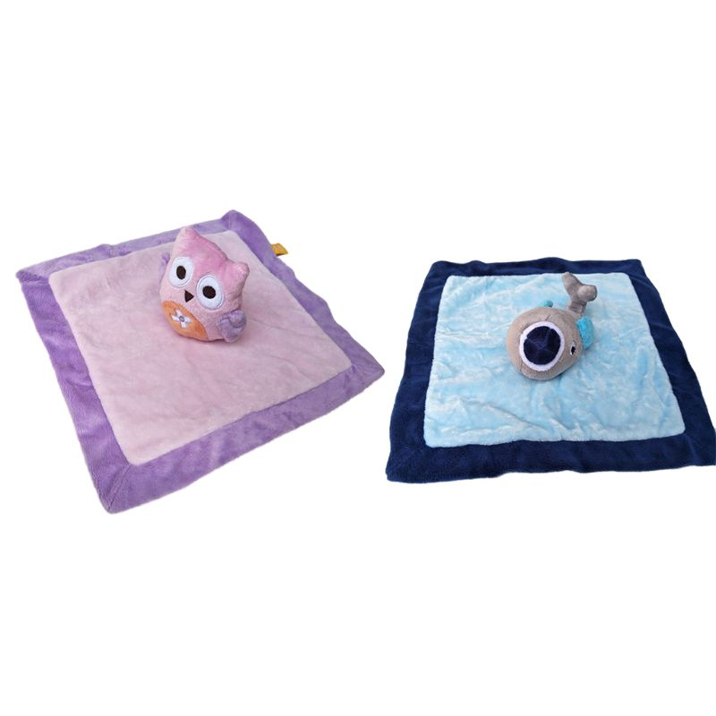 Towels Baby Pacifier Appease Soothe Towel Cute Cartoon Owl Dolphin Soft Plush Nursing Stuffed Doll Infant Teether Sleeping Partner