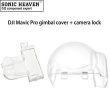 Transparent Gimbal Cover Crashproof Lock Clamp + Camera Lock Cover Protector Holder for DJI Mavic Pro Drone DJI Accessories