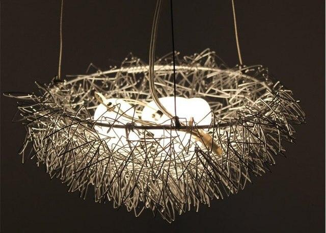Free shipping wholesales bird nest light chandelier pendant lamp free shipping wholesales bird nest light chandelier pendant lamp residential lighting mozeypictures Images