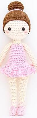 crochet  Amigurumi doll girl rattle toyBaby & Toddler Toys