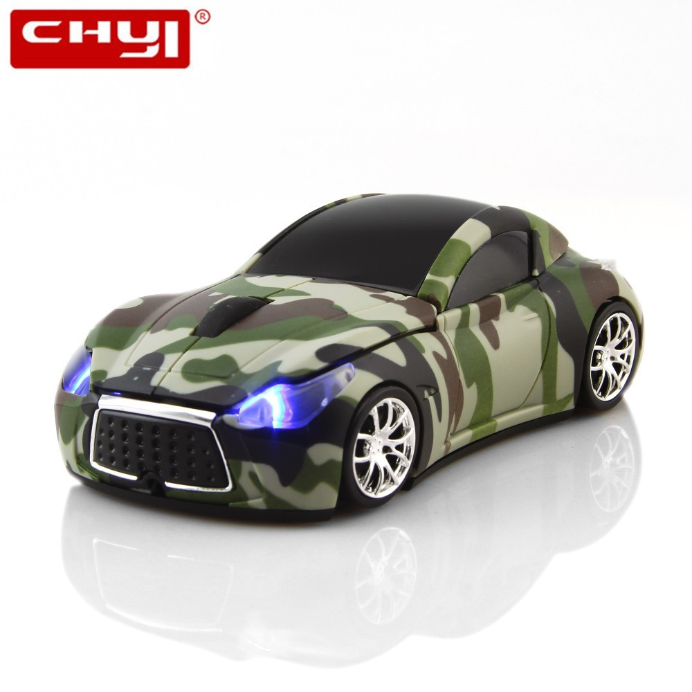 CHYI Wireless Mouse Infiniti Sports Car Mouse 2.4Ghz USB Computer Mice Optical With LED Flashing Light  Mause 112*55*36 Mm