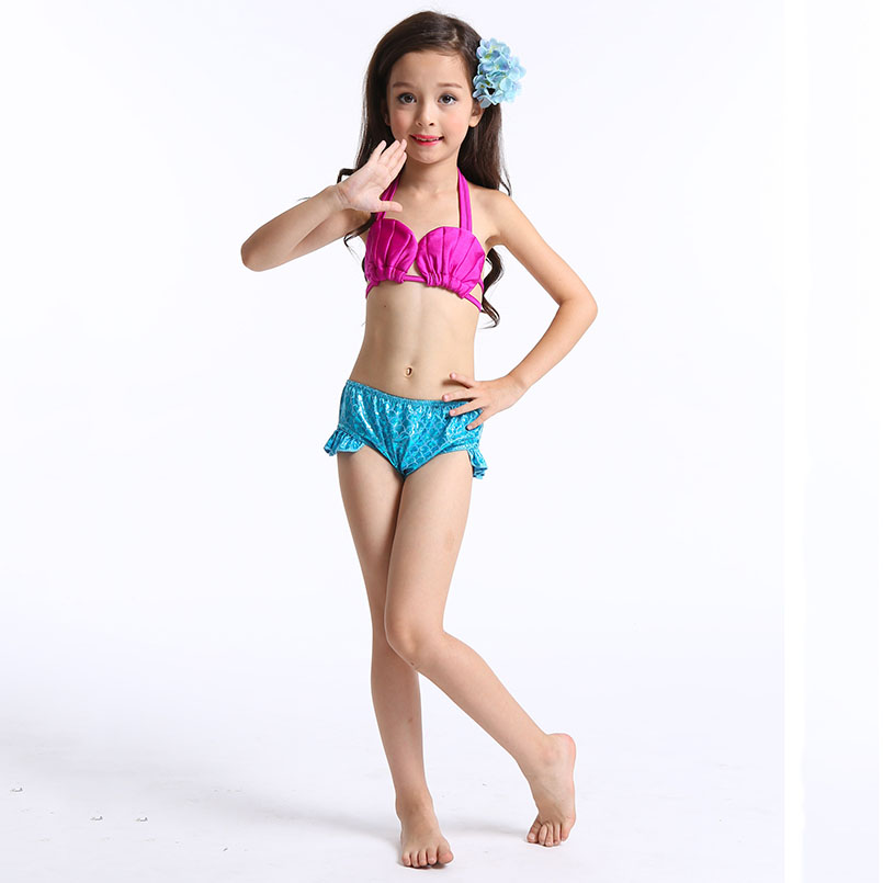 Mermaid Tail Swimming wear-blue rose 2