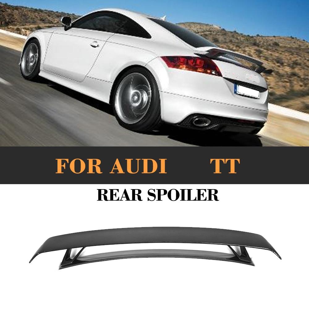 Углеродное волокно автомобиля задний багажник спойлер крыло для Audi TT MK2 8J TTS Coupe 2 двери только 08- 14 Quattro Кабриолет Черный FRP