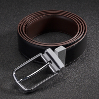 Double sided Black and brown designer belt men high quality genuine leather male belts for men cowboy modis Luxury strap brand