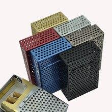 Тонкая модная трубка креативный индивидуальный чехол для сигарет тонкий металлический чехол для сигарет сигаретная коробка алюминиевая п...