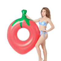 140X100cm Inflatable Float Strawberry Shape Swim Ring Summer Inflatable Pool Ring Swimming Circle Pool Toys Adult Women Lifebuoy