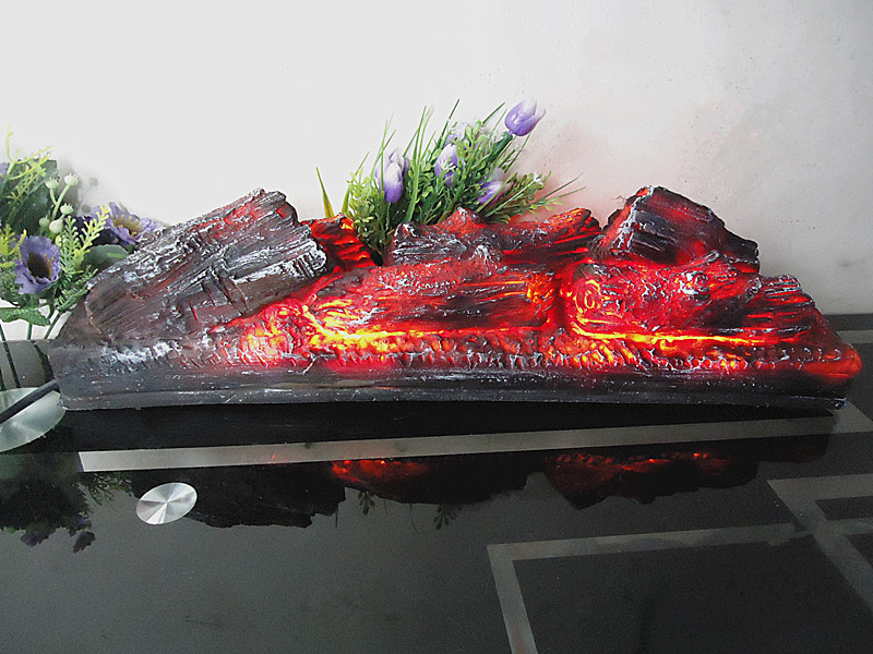 Electric fireplace simulation charcoal fake firewood Bonfire shoot props museum hall decorations craft Halloween Christmas party