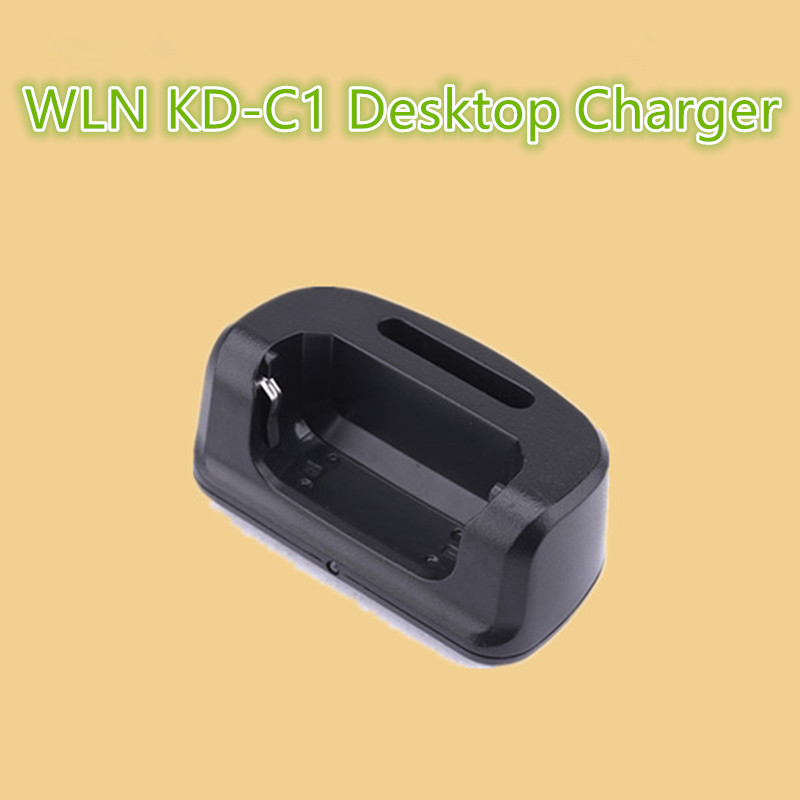 100 Original WLN KD-C1 USB Desktop Battery Charger For Midland Radio Parts Tabletop Li-Ion Charge Walkie Talkie Accessories