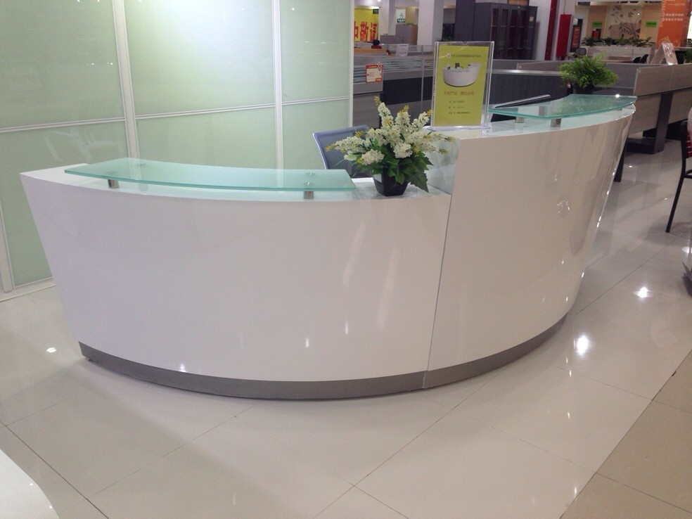 high quality semi circle half round exhibition glass top