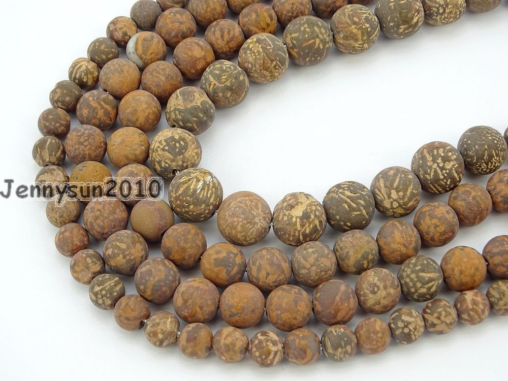 Diplomatic Natural Matte Fireworks Stone Gems Stone Round Beads 15'' 4mm 6mm 8mm 10mm 12mm For Jewelry Making Crafts 5 Strands/pack Durable Modeling