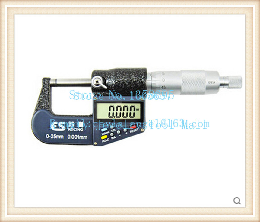 Free Shipping High Quality Jewelry Tools Measuring 0-25mm by 0.001mm Electric Digital Micrometer наволочка декоративная wess illusion цвет желтый 40 х 40 см