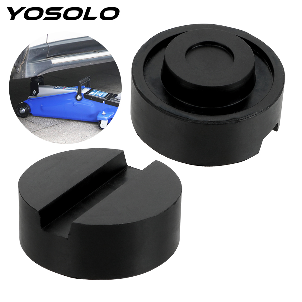 YOSOLO Rubber Car Jack Support Block For Pinch Weld Side Pad Slotted Floor Jack Pad Frame Rail Adapter Car Removal Tool