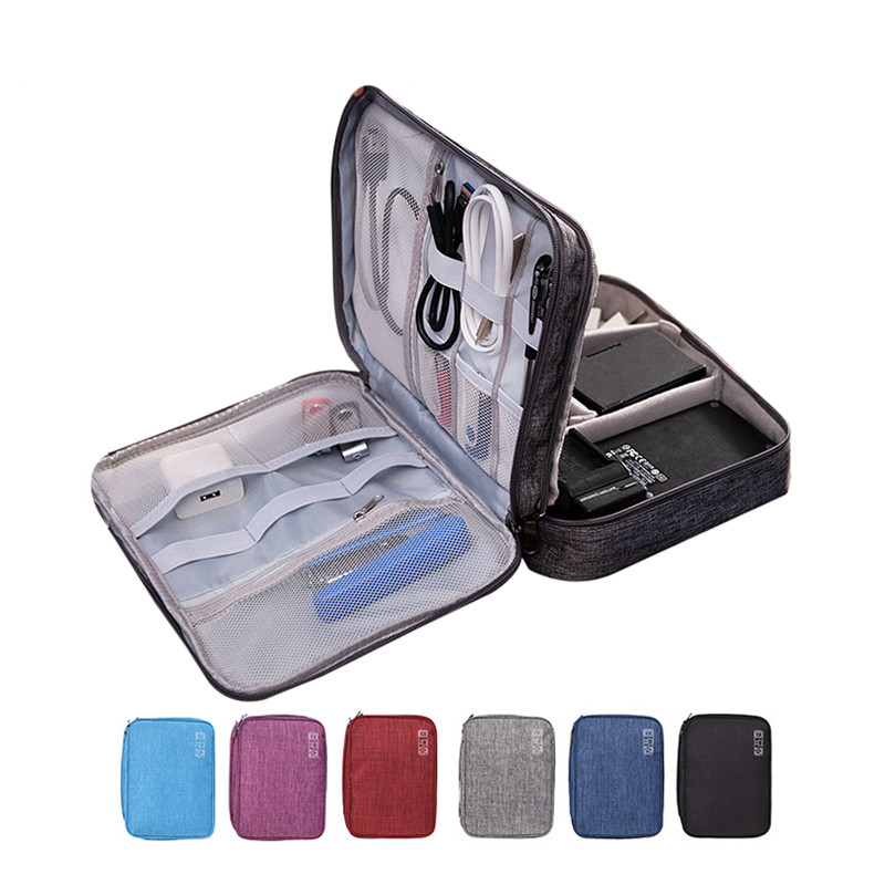 Charger Wire Electronic Organizer Travel Cable Wire Digital Bag Women Wardrobe Suitcase Luggage Gear Organizer Pouch Accessories