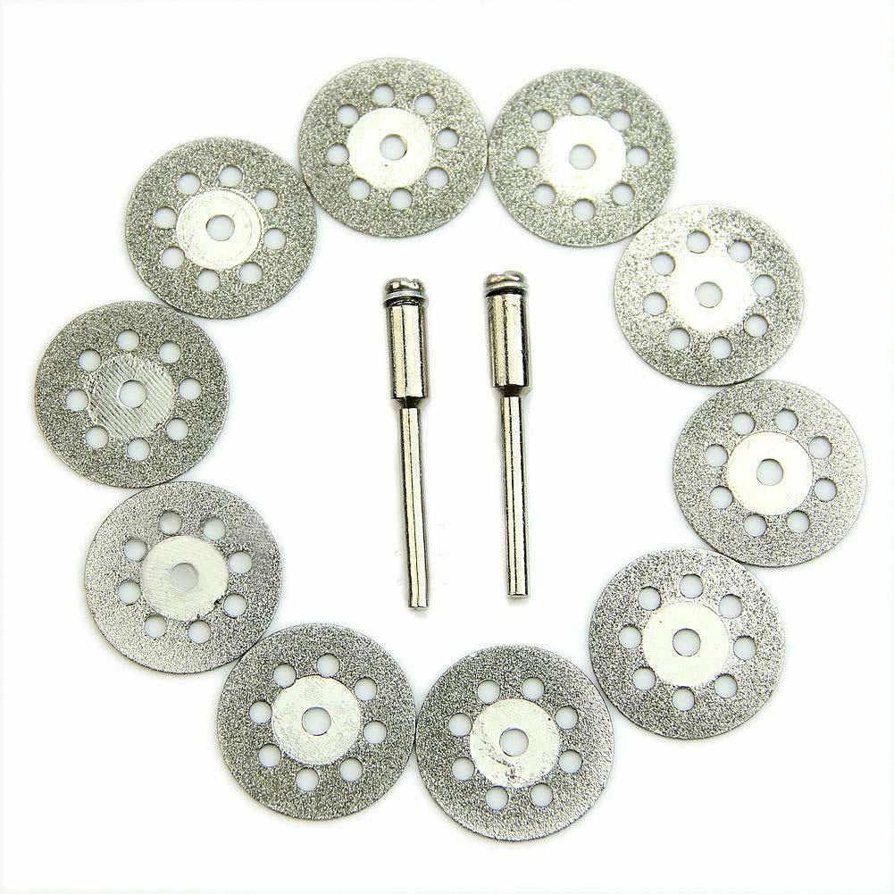 10 шт. 22 мм роторная циркулярная пила диски для катания на колесах оправка керамика отрезной + 2x инструмент оправки LO88