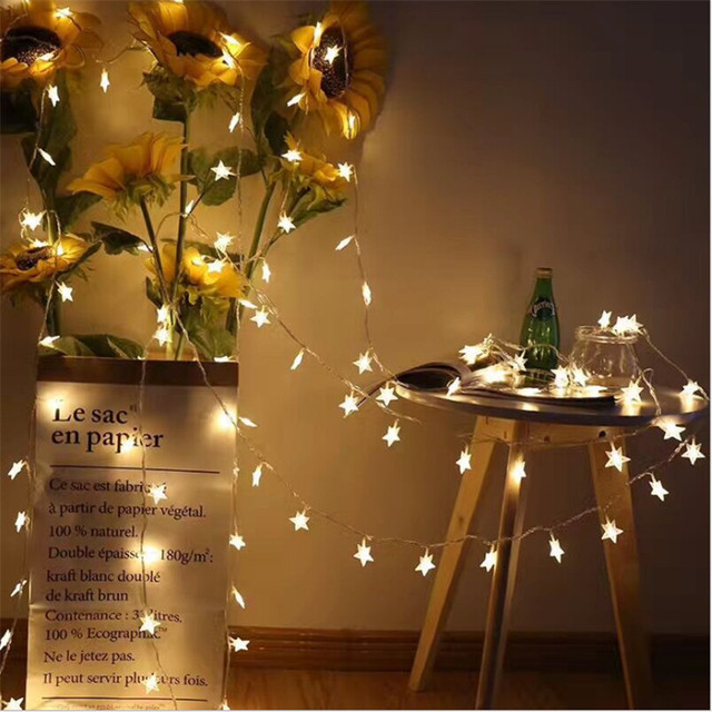 3m 20light star string led christmas tree lights wedding decoration birthday gift diyparty decorations kids room