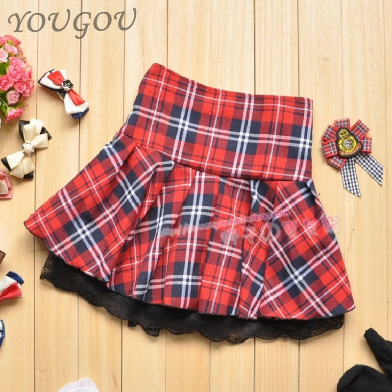 Hot Sale 2015 Girls Low Price Summer Style Plaid Cute -4394