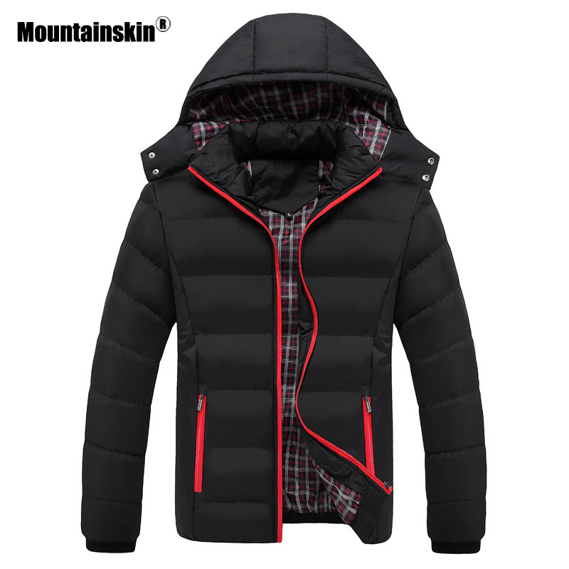 Mountainskin 5XL Winter Men's Coats Warm   Parkas   Casual Thick Jackets Male Outerwear Hooded Overcoat Mens Brand Clothing SA569