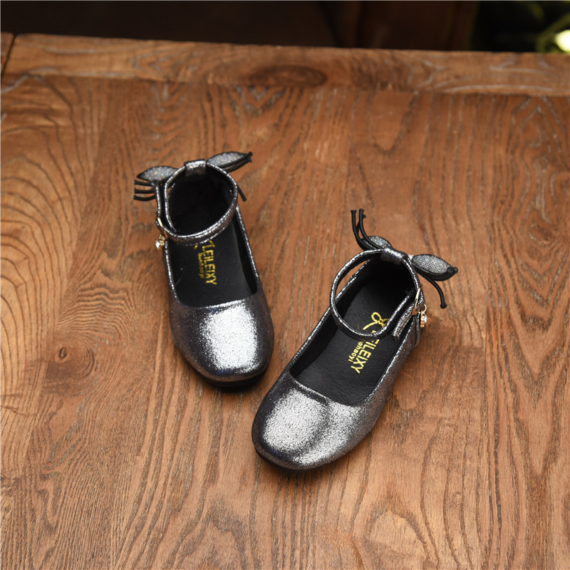 2018 Kids Spring Retro Style Leather Shoes Baby Girls Student Rome Princess Dress Shoe Children Infantil Chaussure Enfant Fille