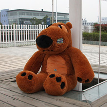 super huge lovely plush brown Unlucky bear toy big sitting unlucky bear doll gift about 180cm