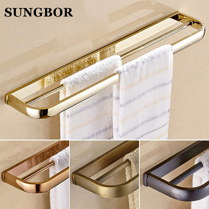 Rose golden/antique Wall Mounted Towel Rack Bathroom Double Towel Bar Towel Shelf 57cm 4 Styles HY-2211K anna netrebko donizetti don pasquale blu ray