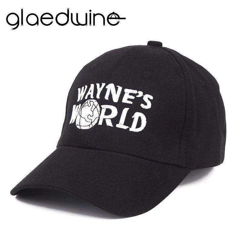 Glaedwine High Quality Wayne s World Hat Costume Waynes World Baseball Caps  Unisex Earth Hats Embroidered Trucker Dad Hat hiphop eb9324a8e84