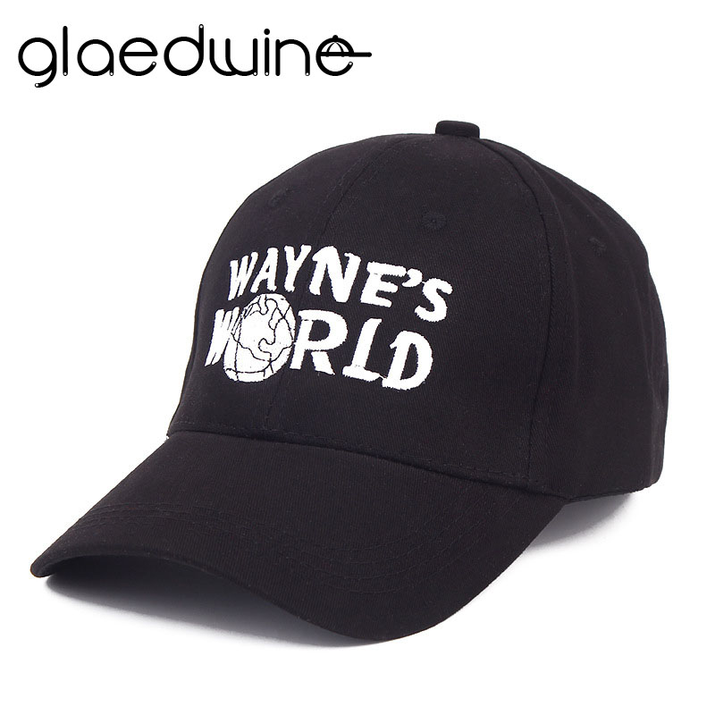 Glaedwine High Quality Wayne's World Hat Costume Waynes World   Baseball     Caps   Unisex Earth Hats Embroidered Trucker Dad Hat hiphop