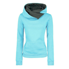 Casual Sweatshirt Women Loose Thicken Large Size Tops New Womens Solid Color Long-sleeved Hooded