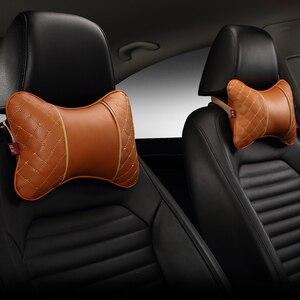 Image 3 - Zagłówek samochodowy poduszka pod kark cztery pojazd podłokietnik do siedzenia głowa poduszka szyi ochrona szyi poduszka na