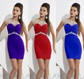 2015 New Arrival Sexy Column Scoop Mini Short Hollow Back Crystal Homecoming Dress Party Dress