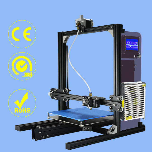 High Accuracy DIY 3D Printer full Complete Kit for Reprap Prusa i3 MK3 Heat Bed LCD 12864 Screen MK8 Extruder 220W Power
