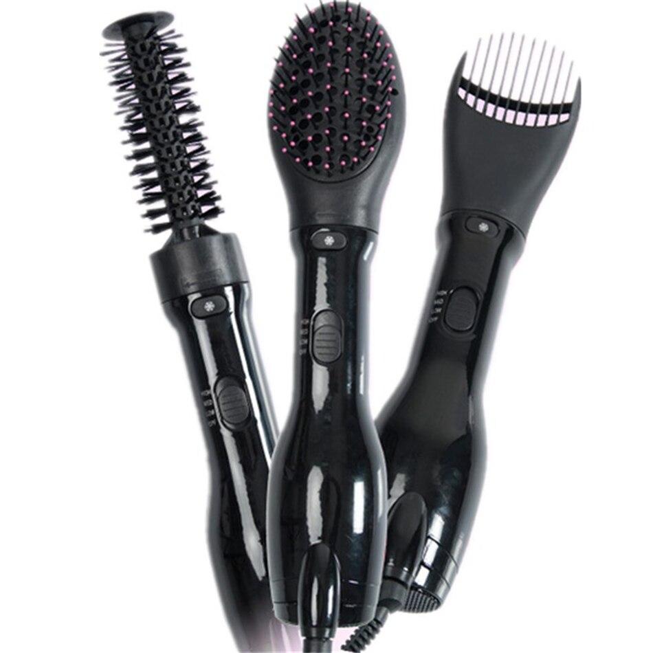 Multifunctional Hot Air Brush Straightener 1000W Professional Curler Styler Dryer Machine Comb Salon Hairdressing Hair Styling цена