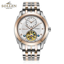 SOLLEN Automatic Self-Wind Calendar men Military clock men's mechanical watches luxury quality business watch relojes hombre