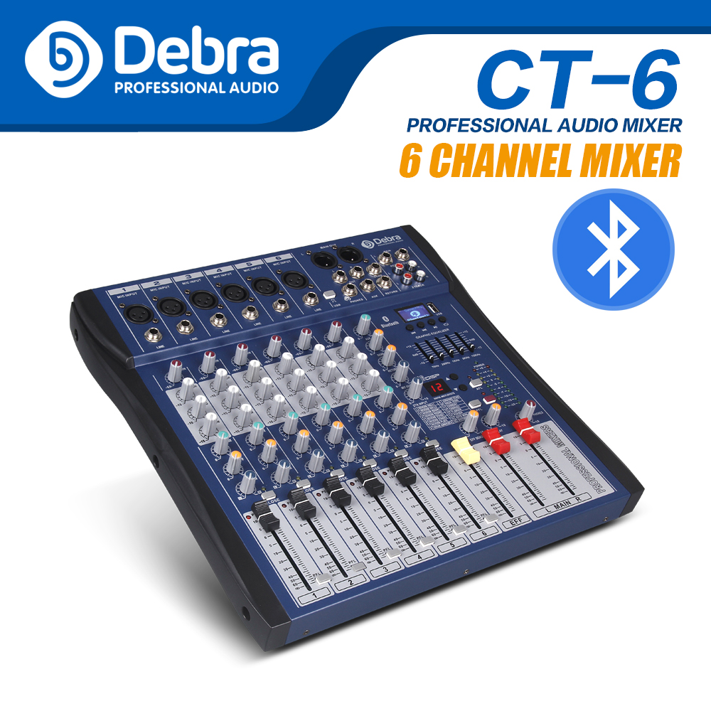 Gute sound!!!USB Bluetooth dj controller mixer professionelle 6 kanal audio Digital Wirkung karaoke KTV Hochzeit mixer