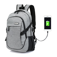Fashion 15 inch Laptop Backpack Male Fashion daypack Men Nylon Bag Powerbank Charge Bagpack Waterproof Backpack Female Mochila